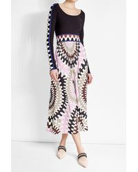 Emilio Pucci | Multicolor Printed Maxi Skirt With Silk | Lyst