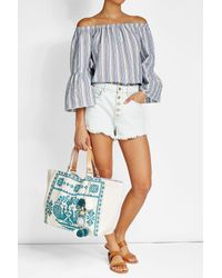 Star Mela | Blue Embroidered Tote | Lyst