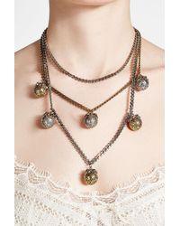 Alexander McQueen - Metallic Multiple Strand Pendant Necklace - Lyst