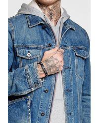 Valentino | Blue Rockstud Leather Bracelet for Men | Lyst