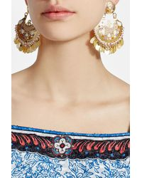 Gas Bijoux - Metallic Embellished 24k Gold Plated Earrings - Lyst