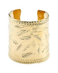 Aurelie Bidermann - Metallic Françoise 18kt Gold Plated Embossed Cuff - Lyst