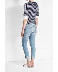 Rag & Bone - Blue Cropped Jeans - Lyst