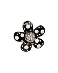 Marc Jacobs - Multicolor Daisy Polka Dot Embellished Brooch Set - Lyst