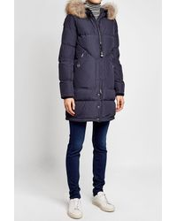 Parajumpers - Blue Light Long Bear Down Parka With Fur-trimmed Hood - Lyst