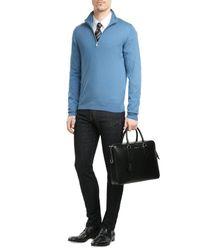 Etro - Blue Woven Silk Tie for Men - Lyst