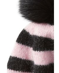 Charlotte Simone - Multicolor Hat With Mohair And Fox Fur - Lyst