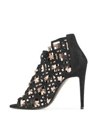 Pierre Hardy - Black Suede And Metallic Leather Stiletto Sandals - Lyst