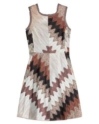 Missoni - Brown Dress With Lace-up Back - Lyst