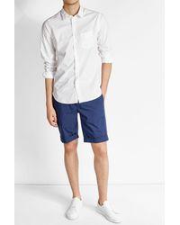 Officine Generale - Multicolor Cotton Shirt for Men - Lyst