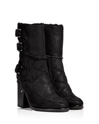Laurence Dacade - Black Shearling Lined Ankle Boots - Lyst
