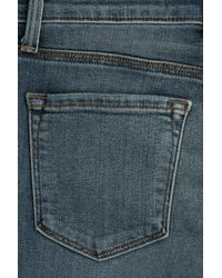J Brand - Blue Flared Jeans - Lyst