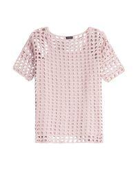 Akris - Pink Crochet Top - Lyst