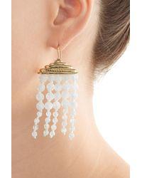 Aurelie Bidermann - Metallic Crystal Chandelier Earrings - Lyst