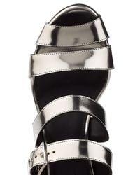 Jil Sander - Multicolor Metallic Leather Sandals - Lyst