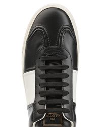 Valentino - Black Gazelle Leather Sneakers With Rockstuds for Men - Lyst