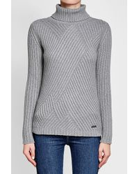 Woolrich - Gray Turtleneck Pullover With Wool And Cashmere - Lyst