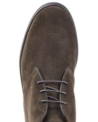 Tod's - Black Rubber Sole Ankle Boots In Suede for Men - Lyst