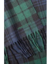 DSquared² | Wool-angora Blackwatch Plaid Scarf - Multicolor for Men | Lyst