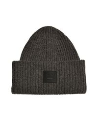 1a1c3014965 Acne Studios Pansy S Face Wool Hat in Gray for Men - Lyst