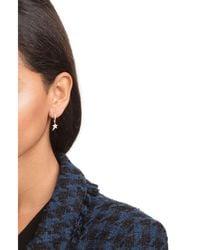 Diane Kordas - Metallic 18kt Rose Gold Earrings With White Diamonds - Lyst