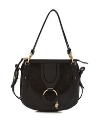 See By Chloé - Black Leather And Suede Shoulder Bag - Lyst