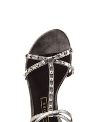 Marc Jacobs - Multicolor Embellished Leather Sandals - Lyst