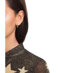 Ileana Makri - Green 18k Yelow Gold Earrings With Chrome Diopside - Lyst