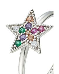 Marc Jacobs - Metallic Embellished Silver Star Ring - Lyst