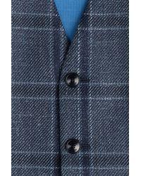 Etro - Blue Plaid Vest for Men - Lyst