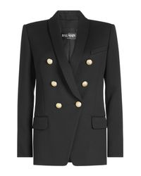 Balmain - Multicolor Wool Blazer With Embossed Buttons - Lyst