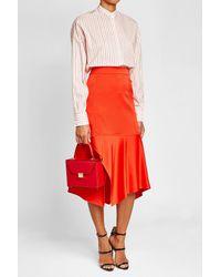 Victoria Beckham - Red Vanity Top Handle Leather Bag - Lyst