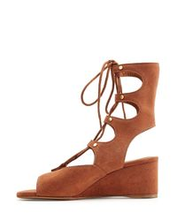 Chloé - Brown Suede Sandals - Lyst