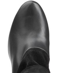 Repetto - Black Leather And Suede Ankle Boots - Lyst