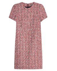 Alexander McQueen - Multicolor Tweed Dress With Cotton And Virgin Wool - Lyst