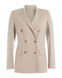 Max Mara - Multicolor Virgin Wool Blazer - Lyst