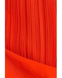 Cedric Charlier - Orange Pleated Maxi Skirt - Lyst