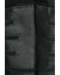 DSquared² - Black Skinny Pants With Leather And Mesh - Lyst