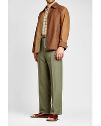 Marni - Brown Zipped Wool Jacket for Men - Lyst