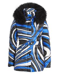b3c90b2faeee Lyst - Emilio Pucci Quilted Down Jacket With Shearling-trimmed Hood ...
