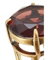 Marc Jacobs - Multicolor Oversized Stone Embellished Ring - Lyst