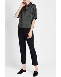 Theory - Black Silk Blouse - Lyst