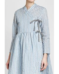 Shrimps - Blue Hermione Printed Dress With Cotton - Lyst