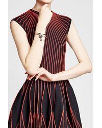 Alexander McQueen - Multicolor Heart Embellished Locket Bracelet - Lyst