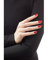 Delfina Delettrez - Metallic 18kt Yellow Gold Pearl Piercing Ring With Diamond - Lyst