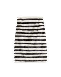 Balmain - Black Fringe Skirt - Lyst