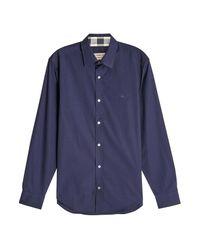 Lyst - Chemise en coton Burberry pour homme en coloris Bleu 711554ee898