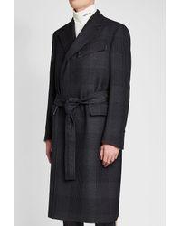 CALVIN KLEIN 205W39NYC - Black Virgin Wool Coat for Men - Lyst