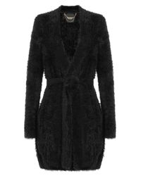 Juicy Couture - Black Textured Cardigan - Lyst