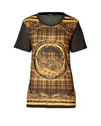 Balmain - Black , Printed Cotton T-shirt - Lyst
